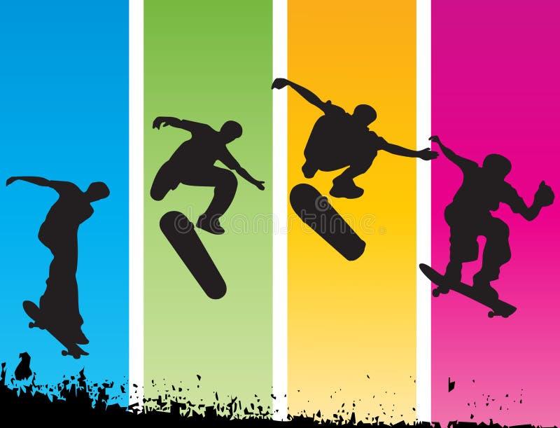 скача конькобежец бесплатная иллюстрация