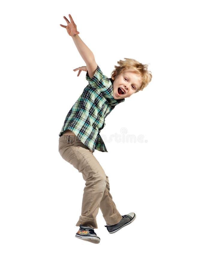Скача мальчик стоковые фотографии rf