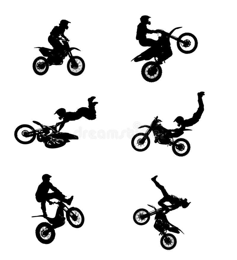 скача мотовелосипед иллюстрация штока