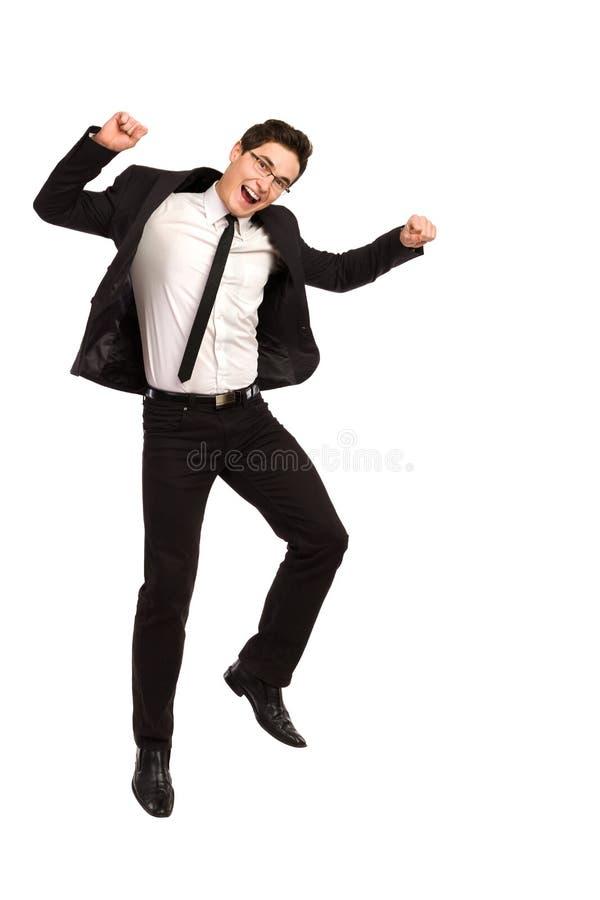 Скача работник офиса. стоковые фото