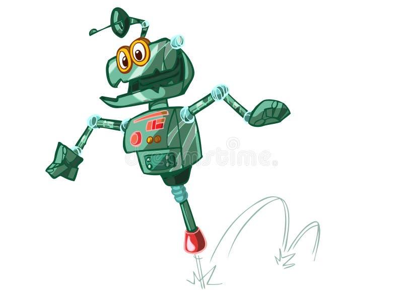 скача робот иллюстрация штока