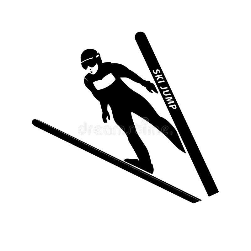 Скача силуэт лыжника также вектор иллюстрации притяжки corel бесплатная иллюстрация