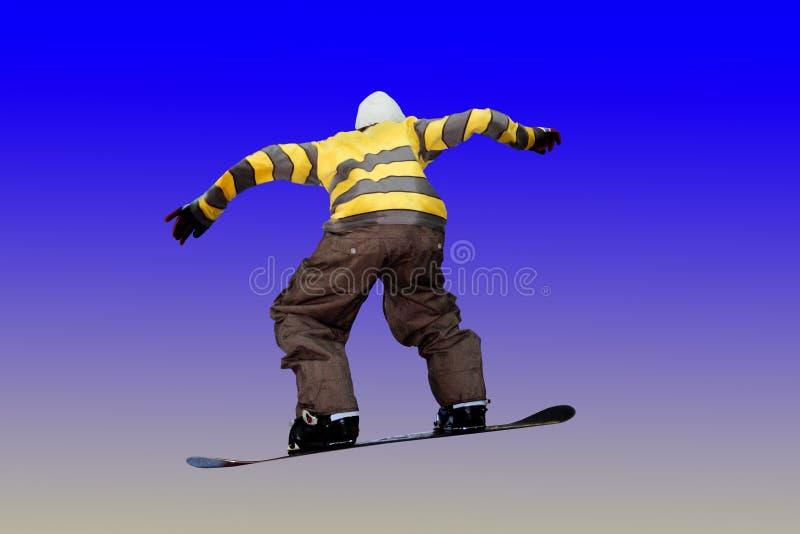скача snowboarder стоковая фотография rf