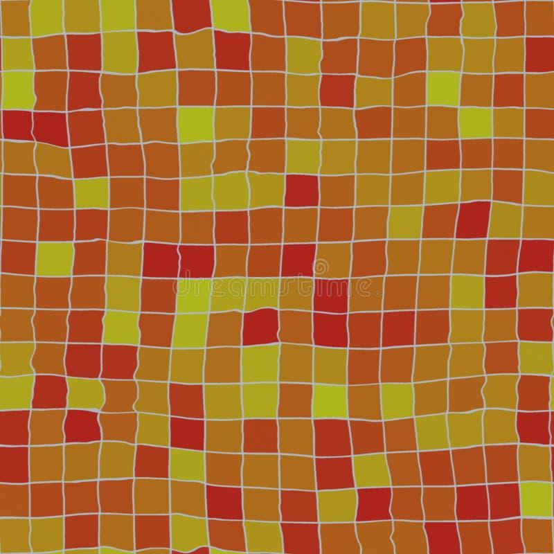 скачками померанцовые плитки иллюстрация штока