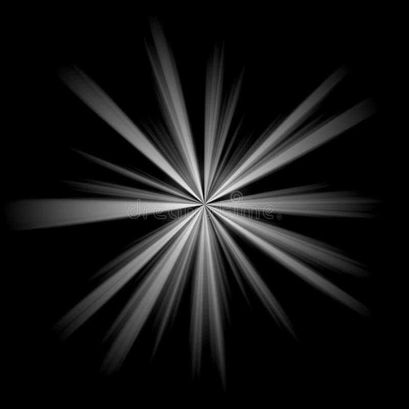 скачками серебряная звезда иллюстрация вектора