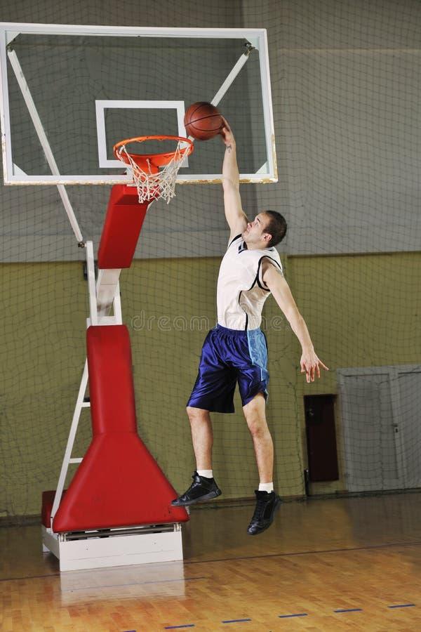 Скачка баскетбола стоковое фото rf