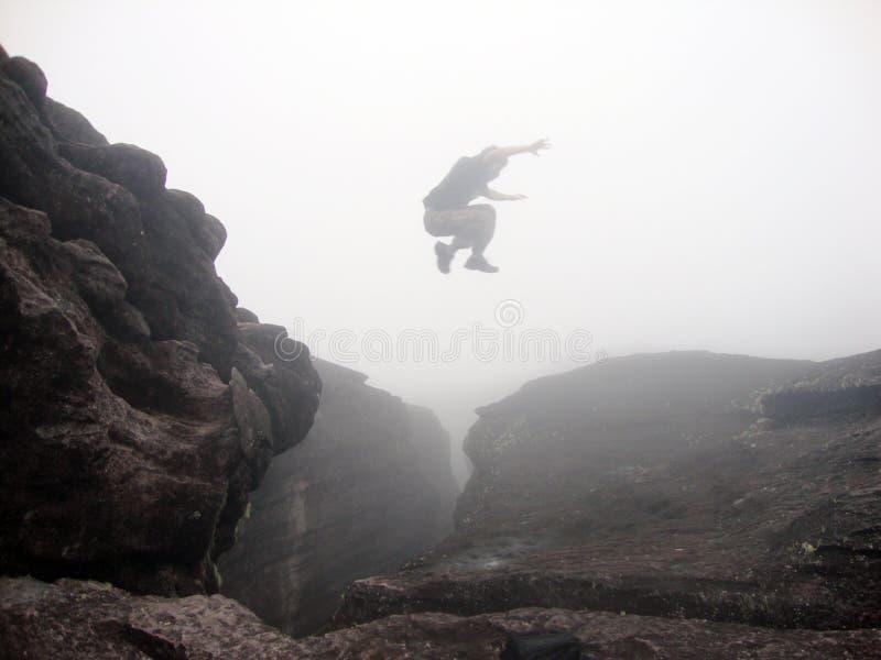 Скачка Parkour стоковое изображение