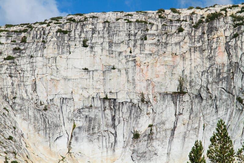 Скала гранита в северном Yosemite, Калифорнии стоковое изображение rf