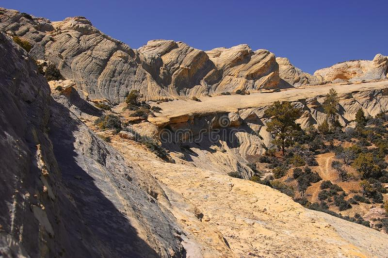 Скала песчаника в Вайоминге стоковые изображения rf