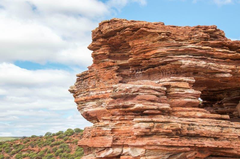 Скала Kalbarri: Слои песчаника стоковое изображение