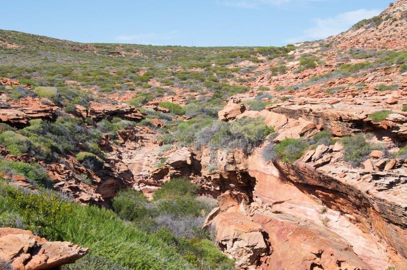 Скалистая земля на утесе гриба стоковое изображение