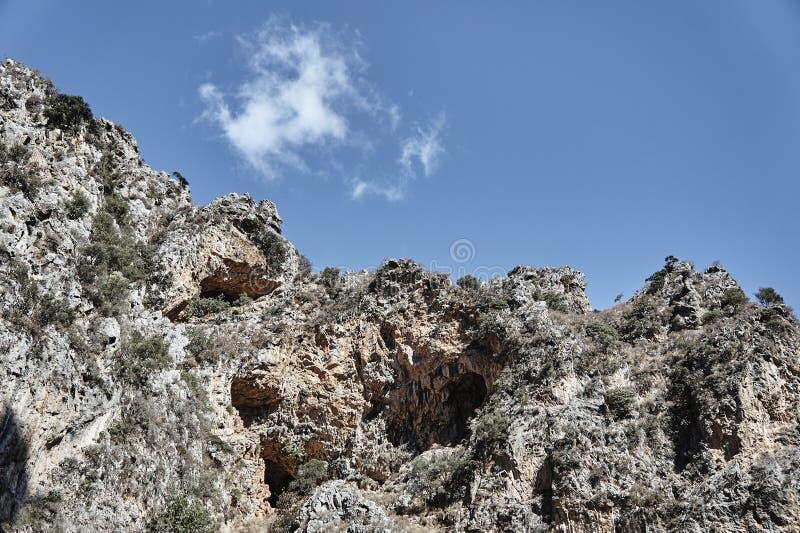 Скалистое ущелье Deliana наклона стоковые изображения