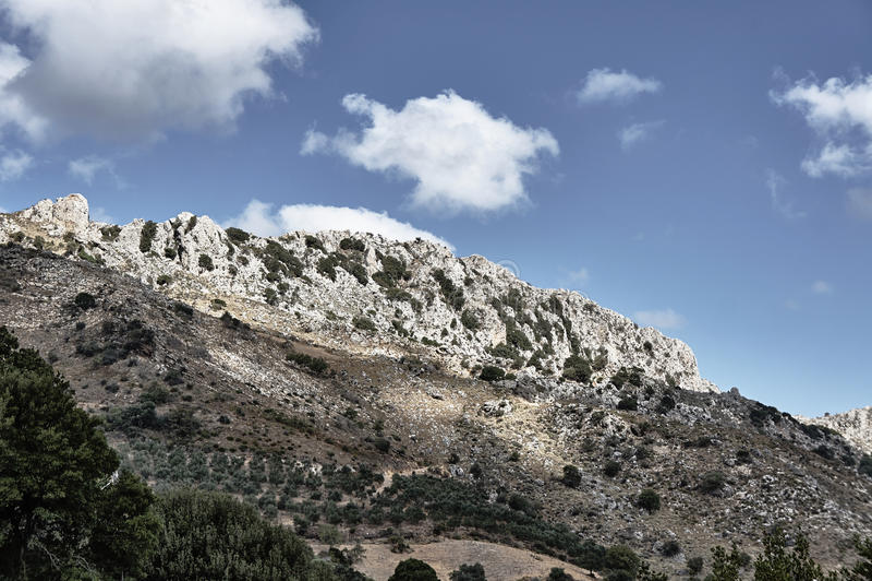 Скалистое ущелье Deliana наклона стоковое фото rf