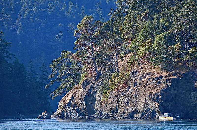Скалистые скалы около пропуска обмана стоковое изображение