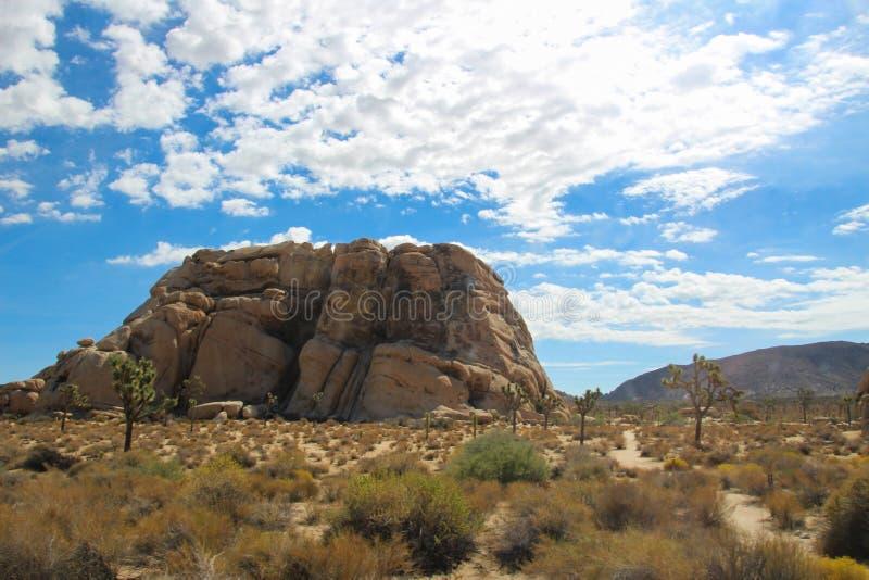Скалистый выход на поверхность в пустыне стоковые фотографии rf