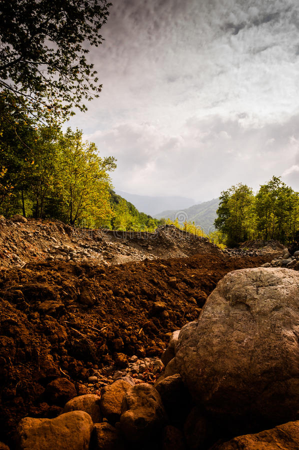 Скалистый естественный ландшафт стоковая фотография rf