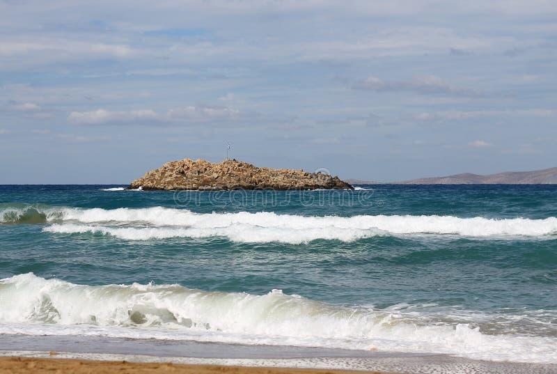 Скалистый остров в море стоковое фото rf