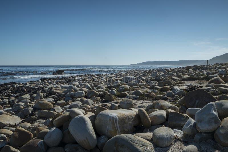 Скалистый пляж на накидке хорошей надежды стоковые фото