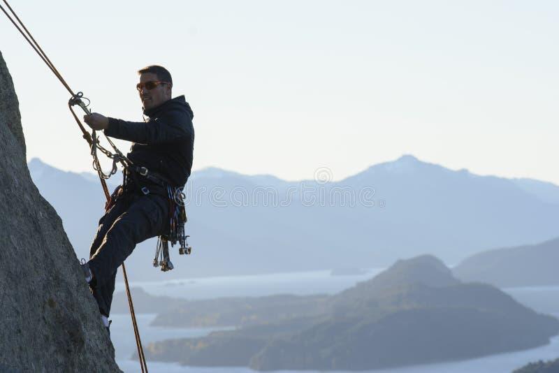 Скалолазание Патагонии стоковое изображение
