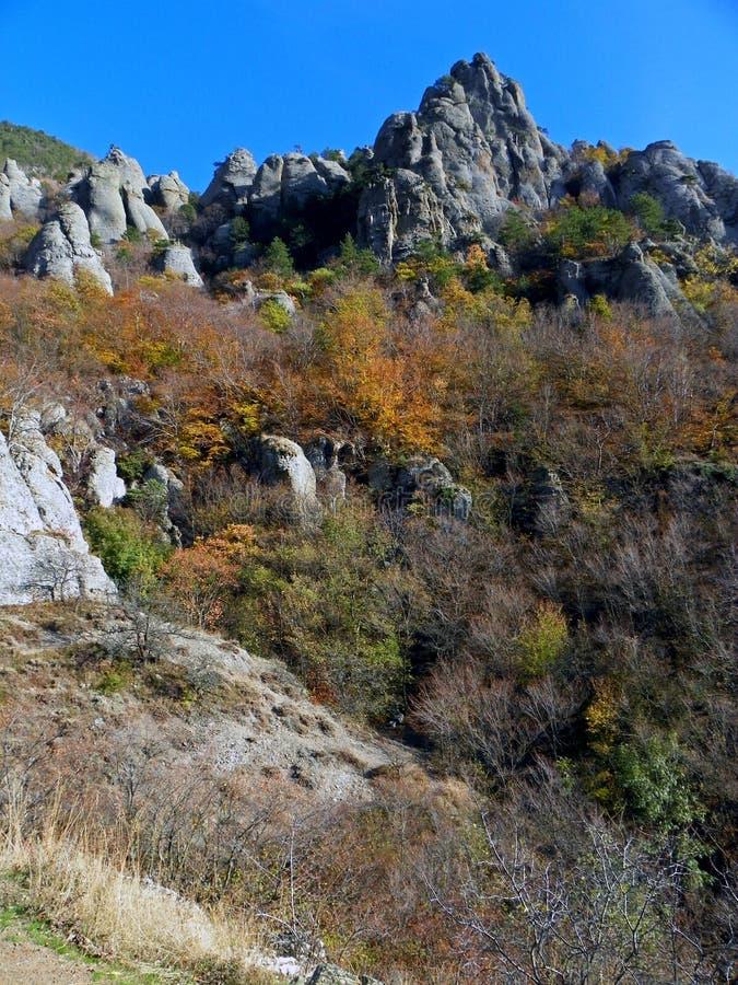 Скалы Крыма стоковые изображения rf