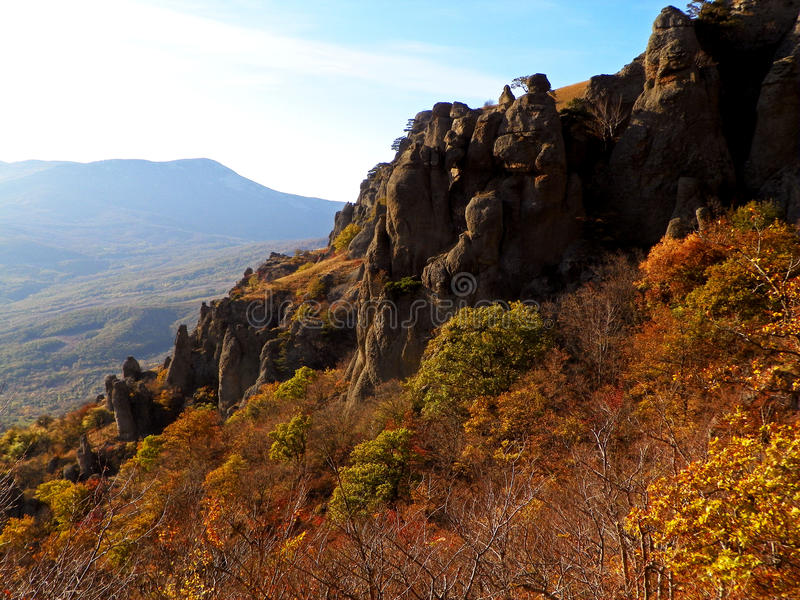 Скалы Крыма стоковая фотография rf