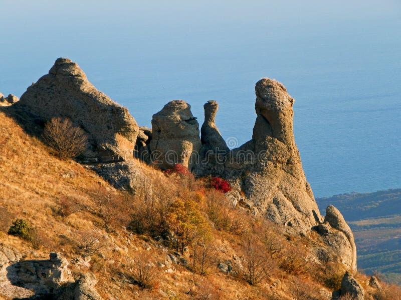 Скалы Крыма стоковое изображение rf