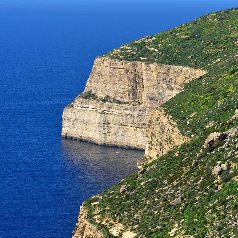 Скалы Dingli, Мальта стоковое изображение rf