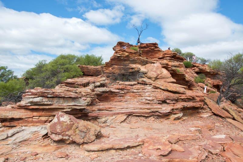 Скалы Kalbarri стоковое изображение