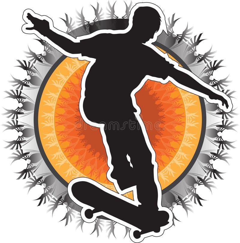 скейтбордист конструкции иллюстрация штока