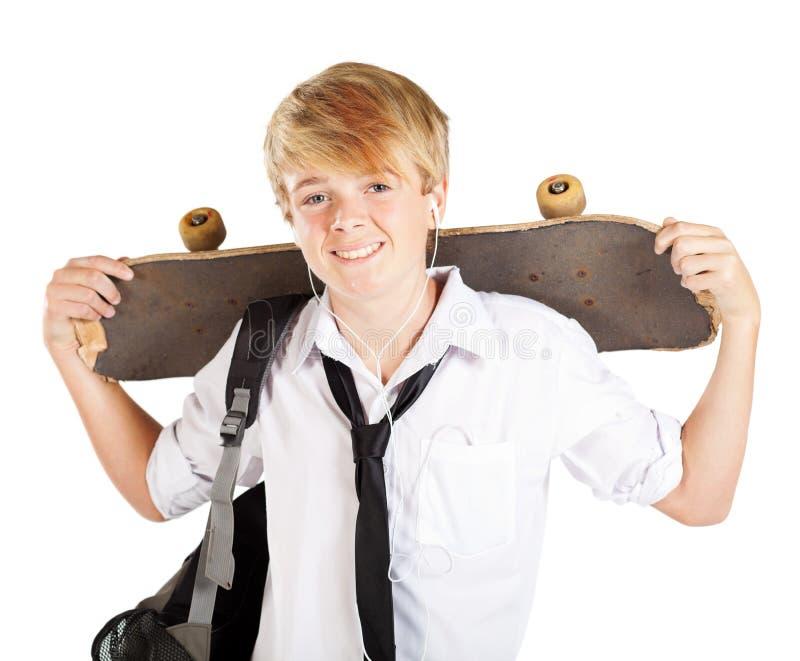 скейтбордист предназначенный для подростков стоковая фотография