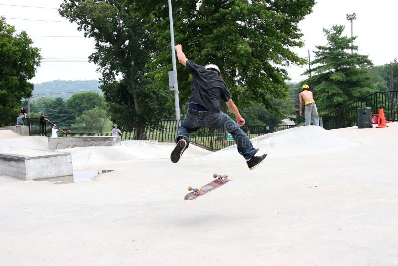 скейтбордист 360 Flip Стоковая Фотография