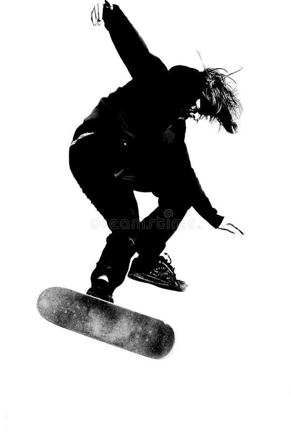 скейтбордист иллюстрация вектора