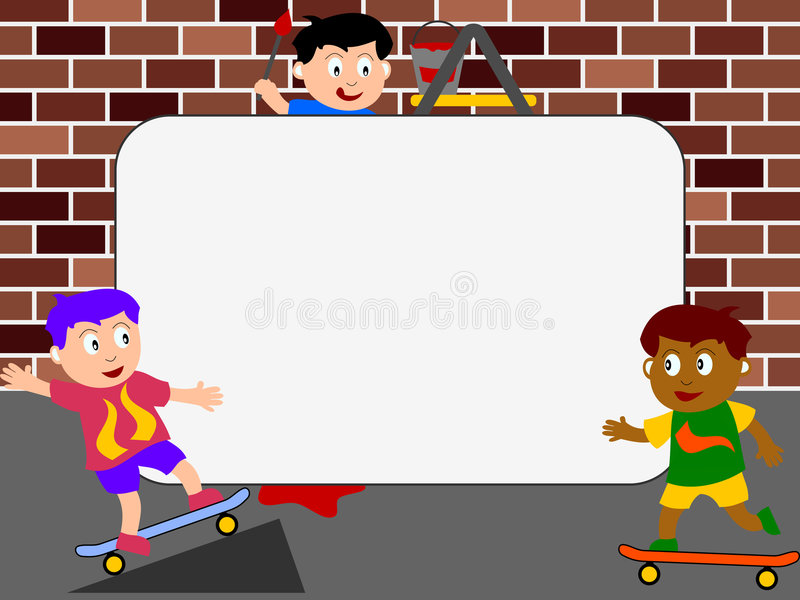 скейтборд фото рамки иллюстрация штока