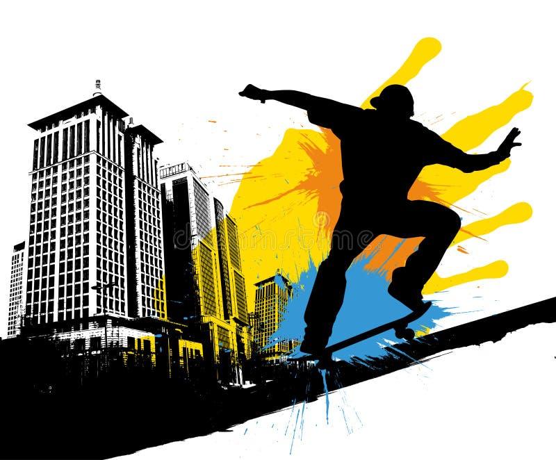 скейтборд иллюстрация штока