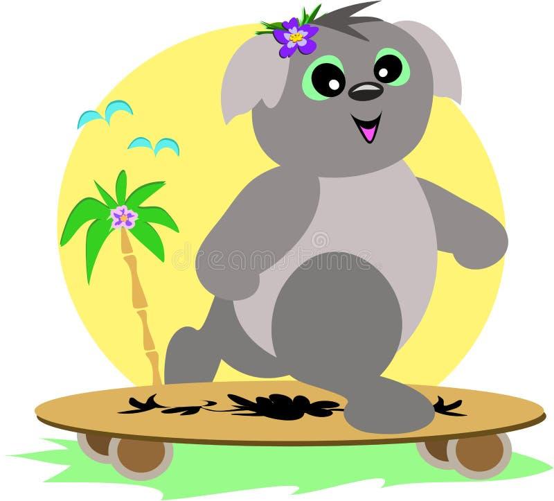 Download скейтборд koala иллюстрация штока. иллюстрации насчитывающей шерсть - 17605645