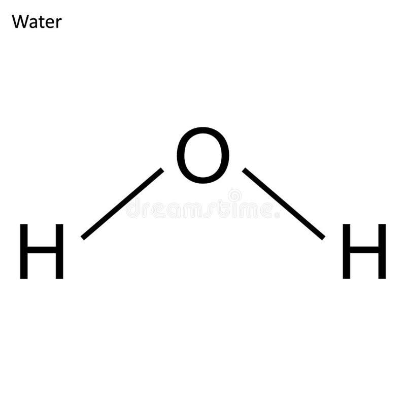 Скелетная формула воды бесплатная иллюстрация