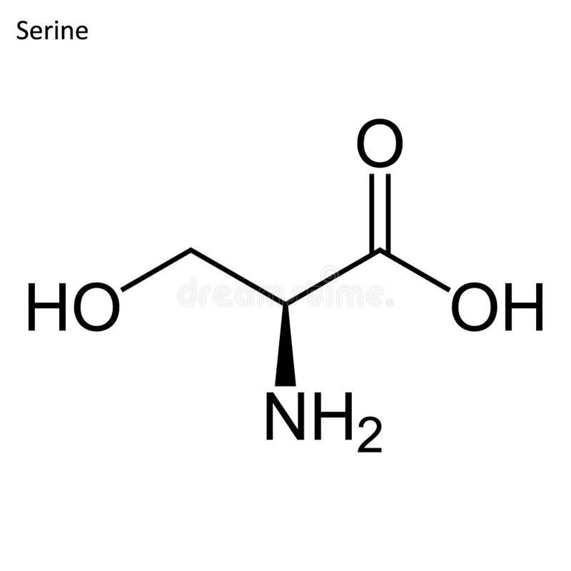 Скелетная формула серина иллюстрация штока