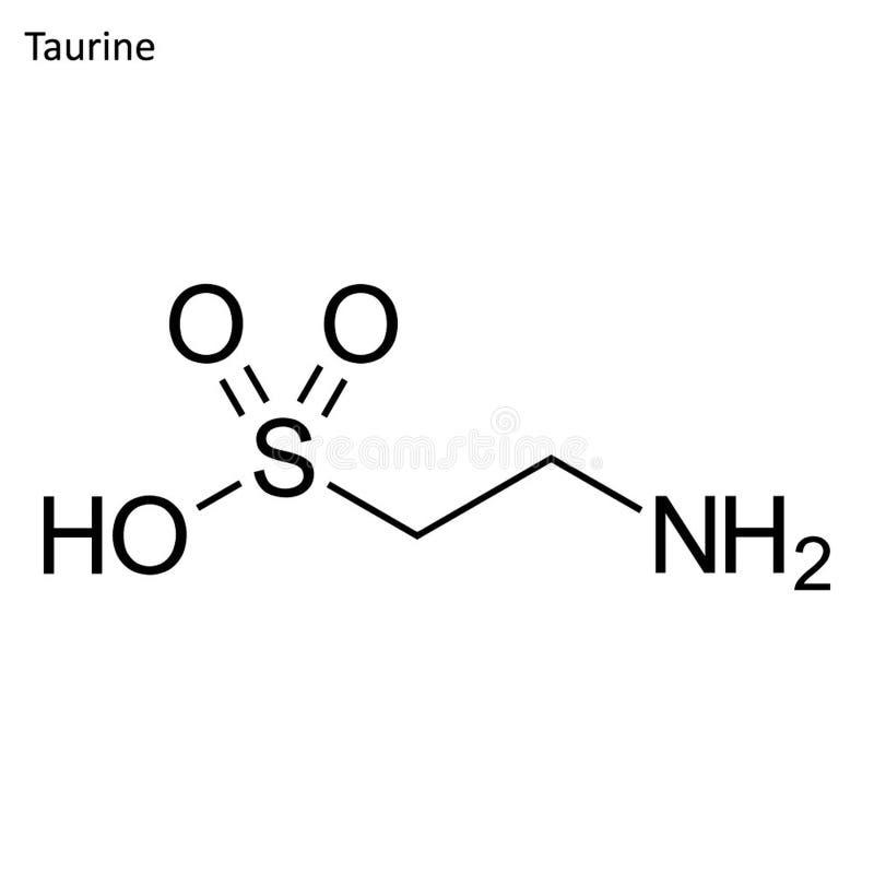 Скелетная формула таурина бесплатная иллюстрация