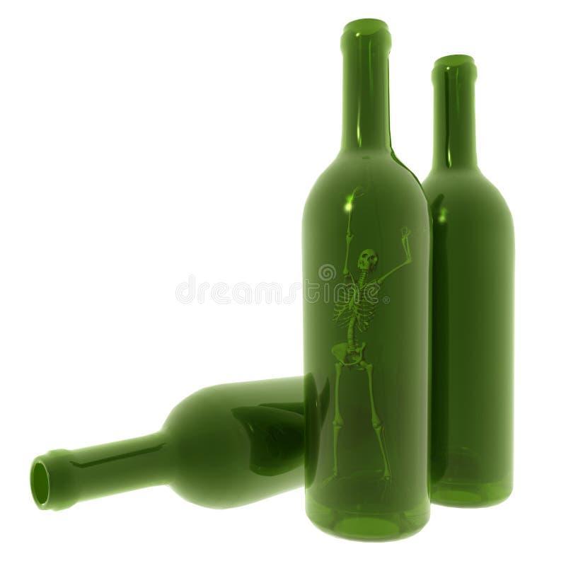 скелет бутылки бесплатная иллюстрация