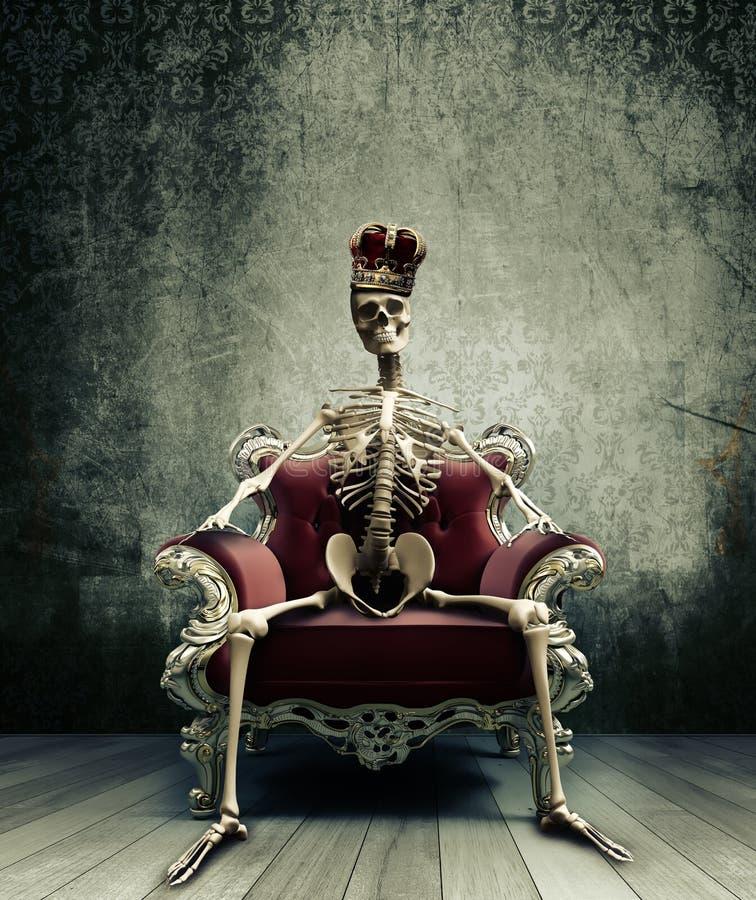 скелет короля иллюстрация вектора