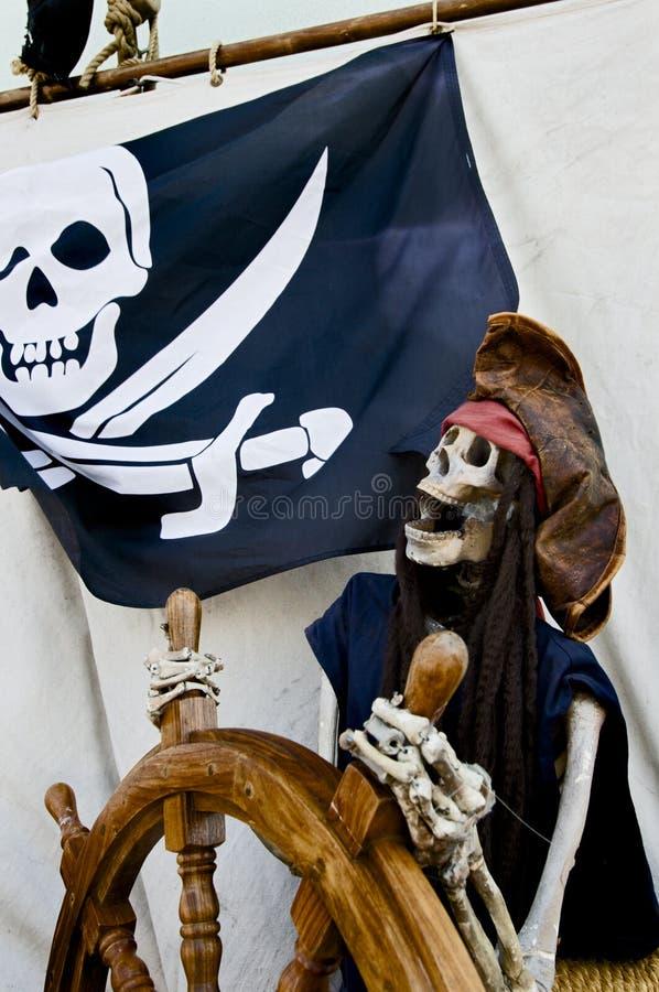 скелет пирата стоковые изображения rf