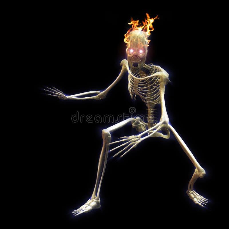 Download скелет иллюстрация штока. иллюстрации насчитывающей праздник - 6866555