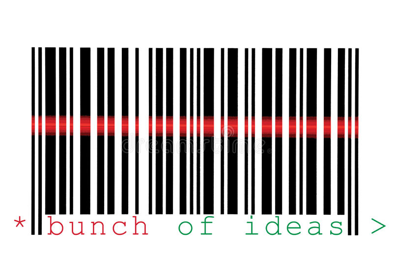 скеннирование макроса пука barcode изолированная идеями стоковые фотографии rf