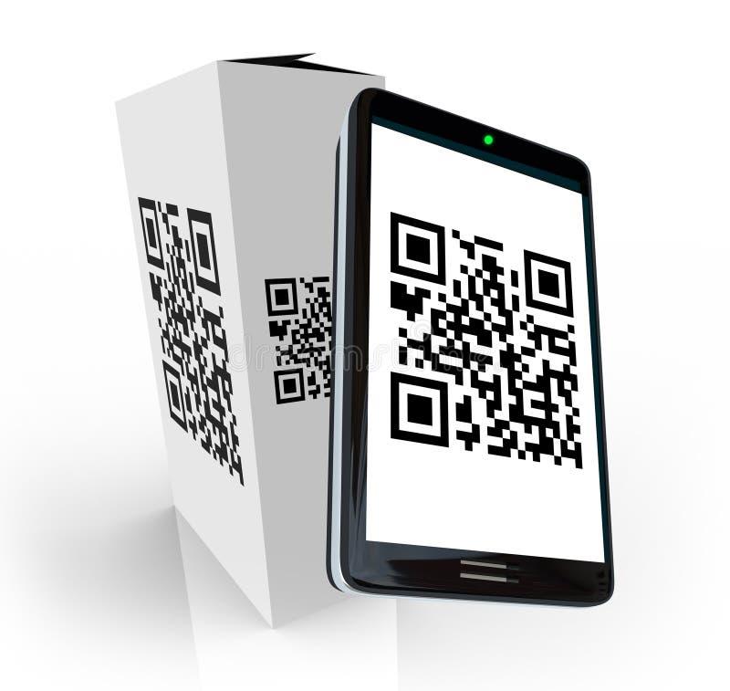 скеннирование qr продукта телефона Кода коробки франтовская бесплатная иллюстрация