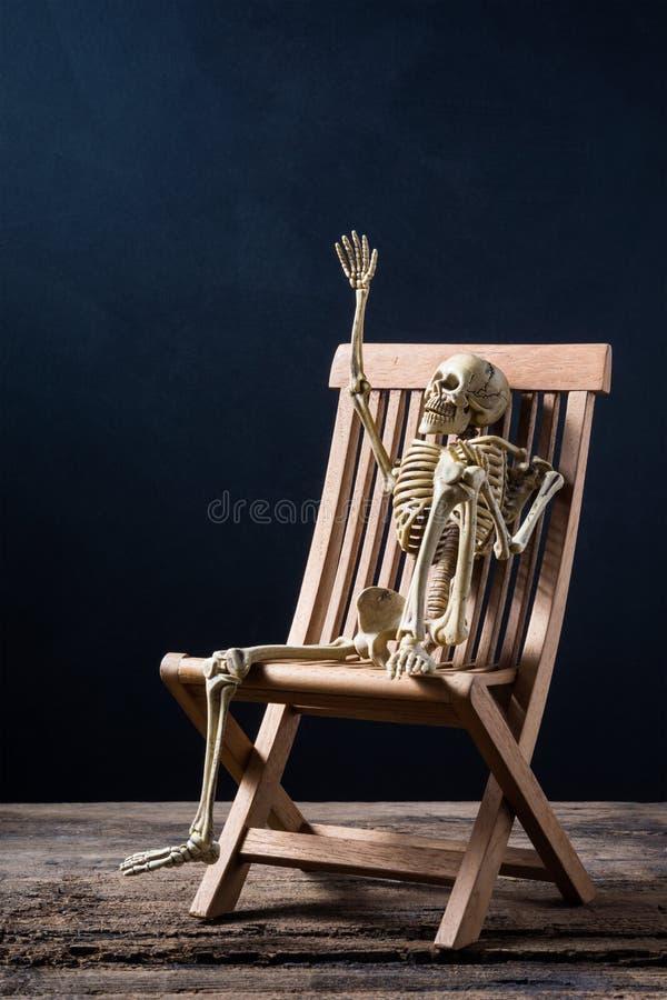 Скелет жестикулирует стоковые фото