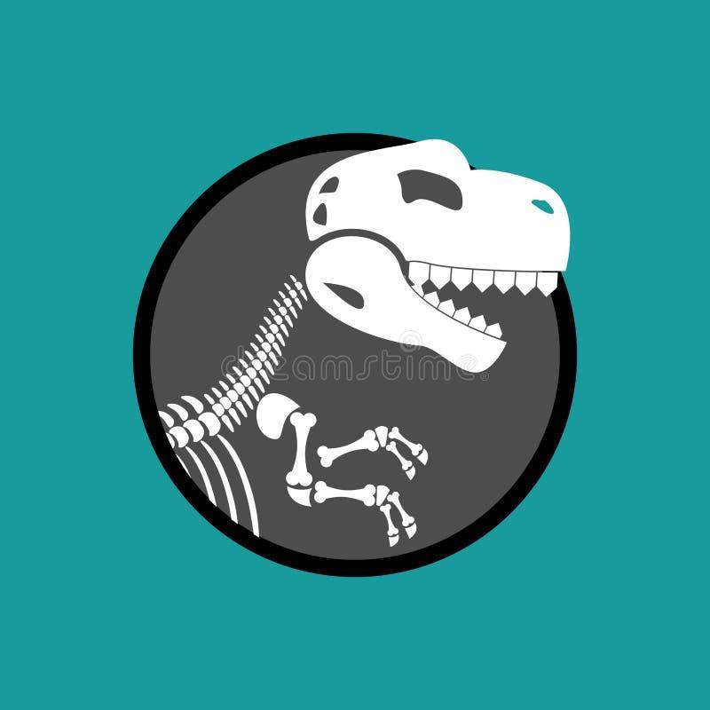 Скелет динозавра Остатки тиранозавра T-Re черепа иллюстрация вектора