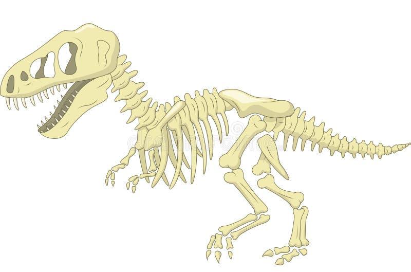 Скелет динозавра шаржа иллюстрация штока