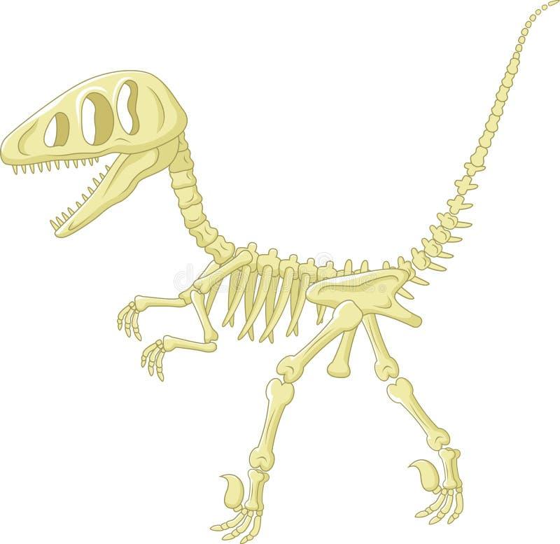Скелет динозавра иллюстрация вектора