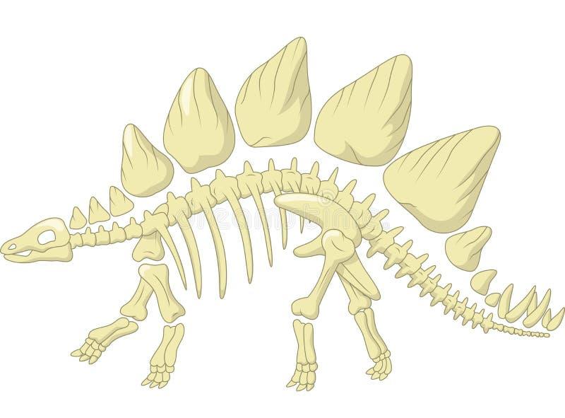 Скелет стегозавра шаржа иллюстрация штока