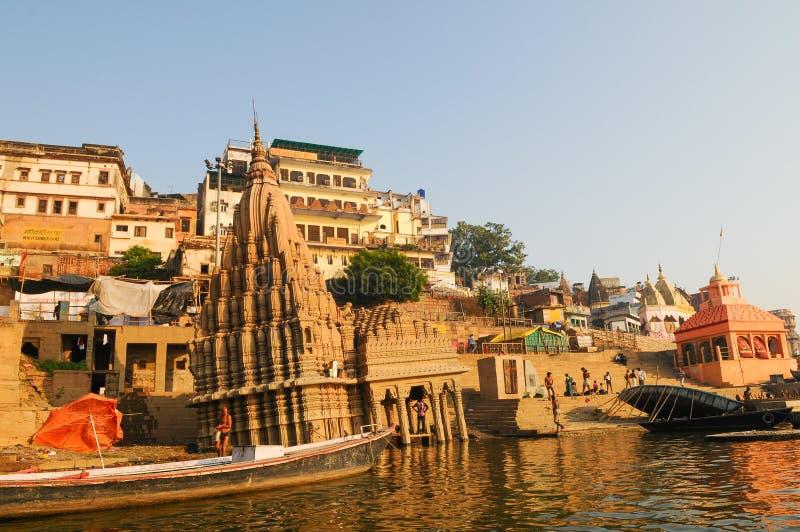 Скиндхиа Гат в Варанаси, Индия стоковое изображение rf